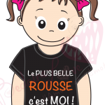 Tee shirt bedaine Love LA PLUS BELLE ROUSSE