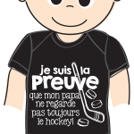 Cache couche Bedaine Love PAPA HOCKEY