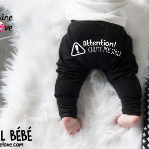 "SAROUEL BÉBÉ ÉVOLUTIF BEDAINE LOVE ""CHUTE POSSIBLE"""