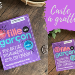 CARTE A GRATTER BE LOVE - FILLE OU GARCON