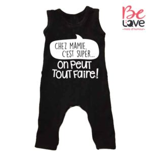 BARBOTEUSE ROOMPER BE LOVE - BEDAINE LOVE CHEZ MAMIE