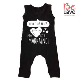 BARBOTEUSE ROOMPER BE LOVE - BEDAINE LOVE COEUR A MARRAINE