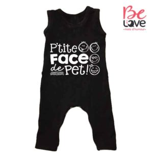 BARBOTEUSE ROOMPER BE LOVE - BEDAINE LOVE FACE DE PET