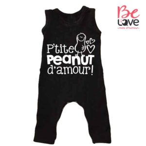 BARBOTEUSE ROOMPER BE LOVE - BEDAINE LOVE PEANUT