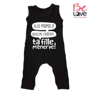 BARBOTEUSE ROOMPER BE LOVE - BEDAINE LOVE TA FILLE