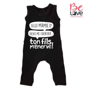 BARBOTEUSE ROOMPER BE LOVE - BEDAINE LOVE TON FILS
