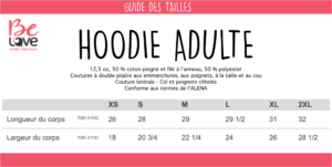 GUIDE TAILLE HOODIE